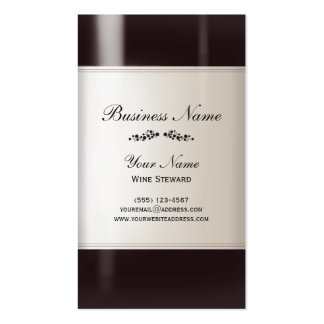 Tarjeta de visita del administrador de vino tarjetas de visita