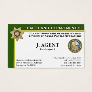 Tarjeta de visita del agente de libertad