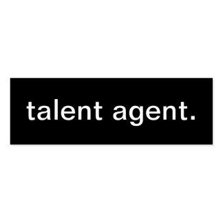 Tarjeta de visita del agente de talento