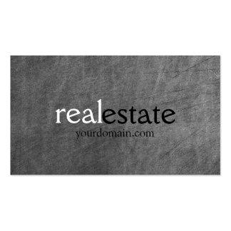 Tarjeta de visita del agente inmobiliario del mode