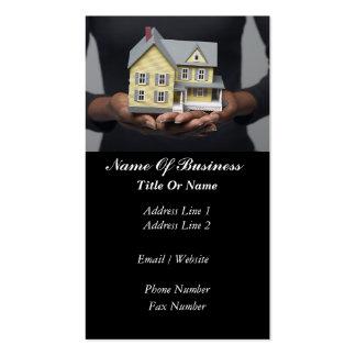 Tarjeta de visita del agente inmobiliario