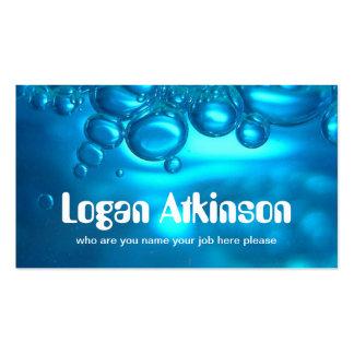 tarjeta de visita del agua