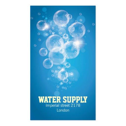 tarjeta de visita del agua potable
