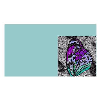 Tarjeta de visita del ala de la mariposa