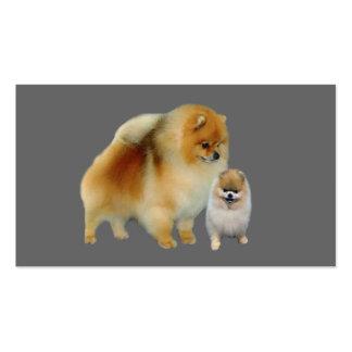 Tarjeta de visita del amante de Pomeranian