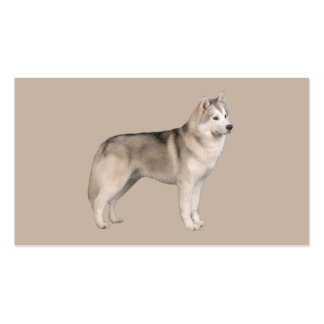 Tarjeta de visita del amante del husky siberiano