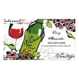 Tarjeta de visita del amante del vino