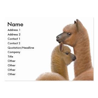 Tarjeta de visita del amor de la alpaca