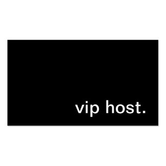Tarjeta de visita del anfitrión del VIP