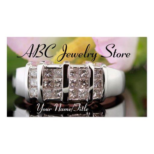 Tarjeta de visita del anillo de diamante de la joy