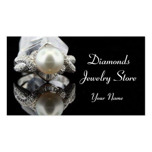 Tarjeta de visita del anillo de la perla de la joy