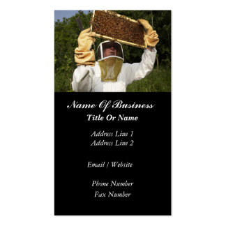 Tarjeta de visita del apicultor