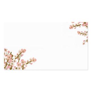 Tarjeta de visita del árbol de la flor de cerezo