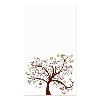 Tarjeta de visita del árbol del otoño