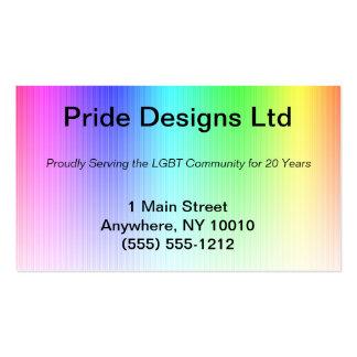 Tarjeta de visita del arco iris del orgullo