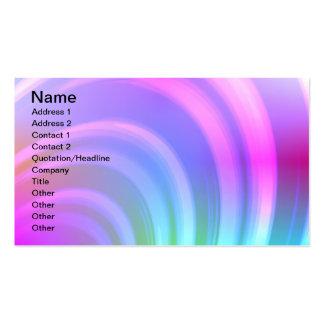 Tarjeta de visita del arco iris