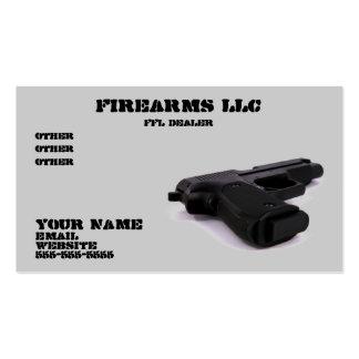 Tarjeta de visita del arma de la pistola
