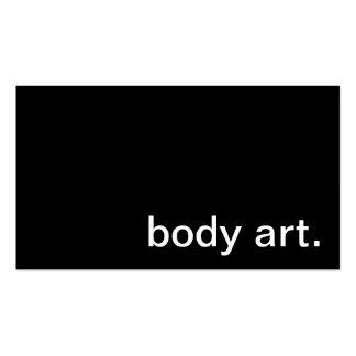 Tarjeta de visita del arte de cuerpo