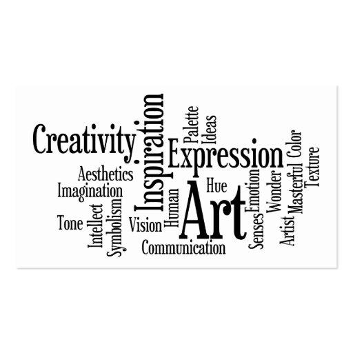 Tarjeta de visita del arte y de la inspiración par