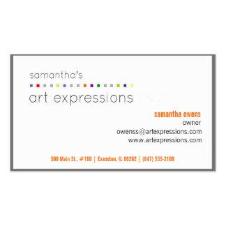 tarjeta de visita del artista (contacto a