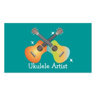 Tarjeta de visita del artista del Ukulele de Ukes