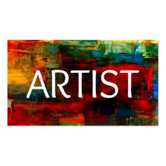 Tarjeta de visita del artista
