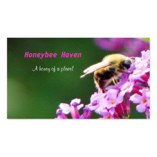 Tarjeta de visita del asilo de la abeja