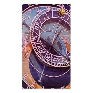Tarjeta de visita del astrólogo de la estrella del