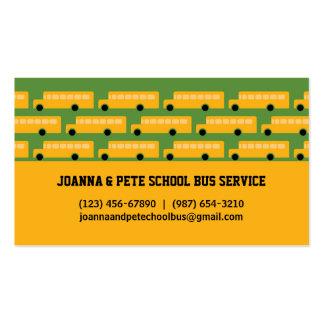 Tarjeta de visita del autobús escolar de muchos au