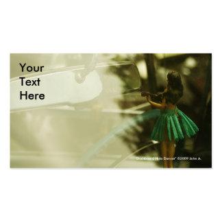 Tarjeta de visita del bailarín de Hula del tablero