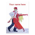 tarjeta de visita del baile de salón de baile