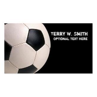 Tarjeta de visita del balón de fútbol