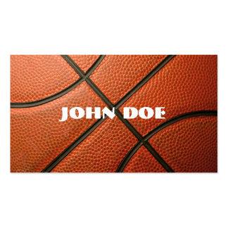 Tarjeta de visita del baloncesto