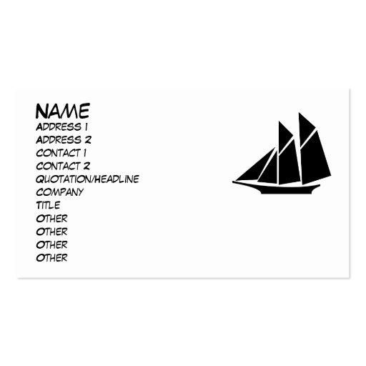 Tarjeta de visita del barco de navegación