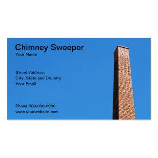 Tarjeta de visita del barrendero de la chimenea