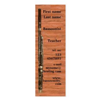Tarjeta de visita del Bassoon