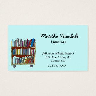 Tarjeta de visita del bibliotecario de escuela