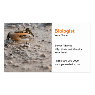 Tarjeta de visita del biólogo