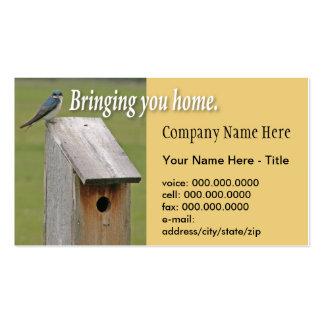 Tarjeta de visita del Birdhouse Shell