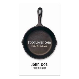 Tarjeta de visita del blog de la comida