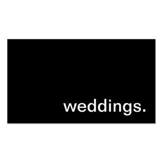 Tarjeta de visita del boda