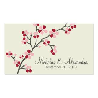Tarjeta de visita del boda de la flor de cerezo (r