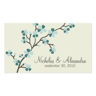 Tarjeta de visita del boda de la flor de cerezo (t