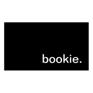 Tarjeta de visita del Bookie