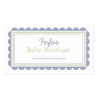 Tarjeta de visita del boutique del bebé