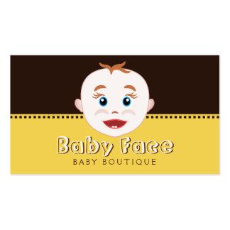 Tarjeta de visita del boutique del bebé de la tien