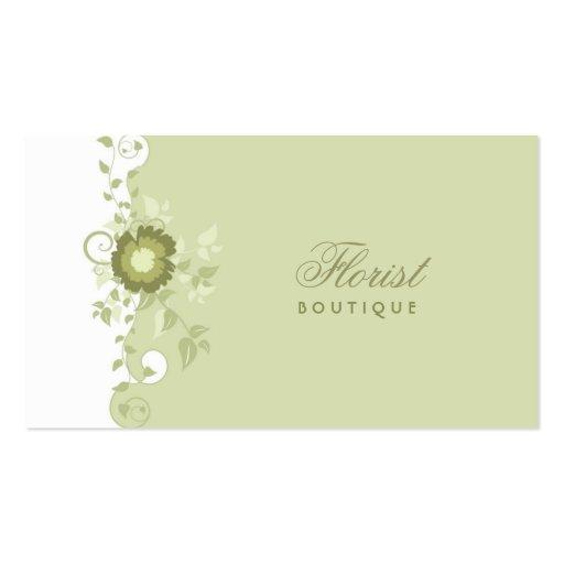 Tarjeta de visita del boutique del florista