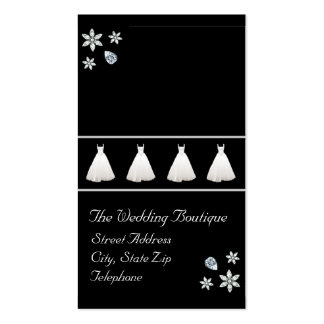 Tarjeta de visita del boutique del vestido de boda