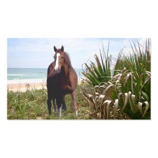 Tarjeta de visita del caballo de la playa