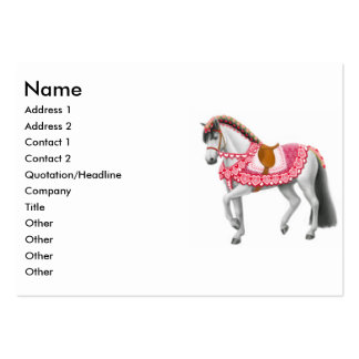 Tarjeta de visita del caballo del desfile de la ta